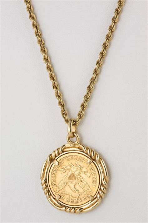 1892 gold coin pendant at 1stdibs