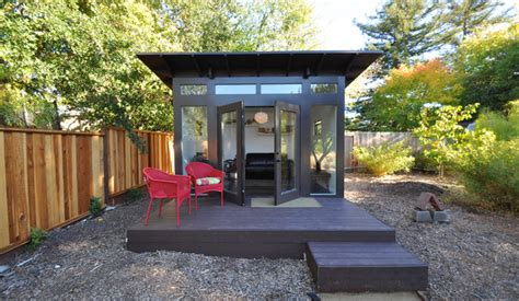 Shed Studios by Bay Area Office 10x12 Studio Shed Lifestyle Modern