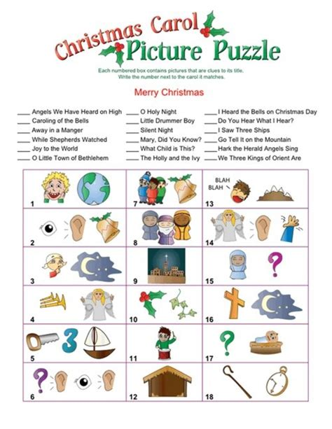 printable christmas song picture games 5 best images of rebus game free printable sheets rebus