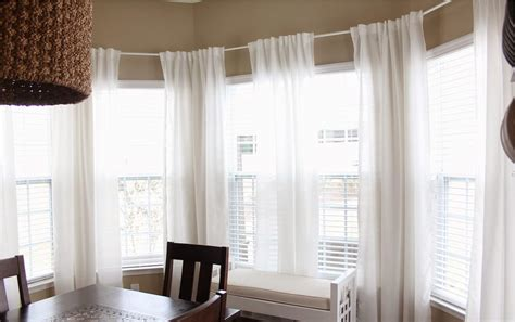 bay window curtain rod lowes easy bay window curtain rod ideas all about house design