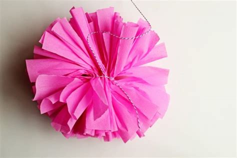 How To Make Pom Poms Crepe Paper - diy crepe paper poms the sweetest occasion