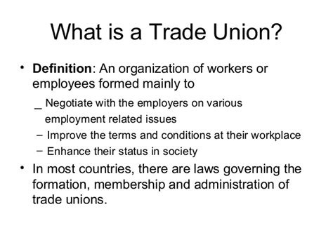 Trade Union Notes Mba by Trade Unionism