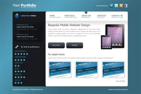top 50 photoshop web layout tutorials from 2011 designbeep 15 best photoshop portfolio website design tutorials
