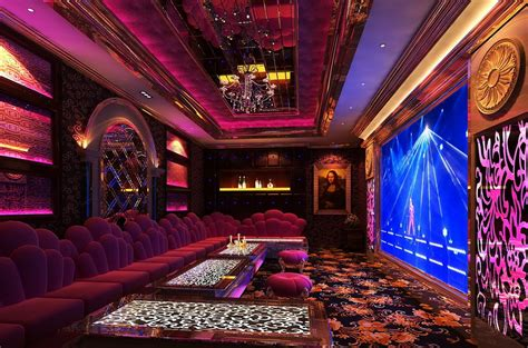 Chinese Themed Bedroom purple picture 3d ktv room night