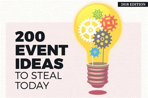 event ideas  steal today  edition