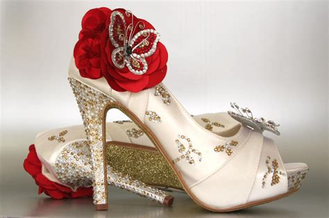 custom wedding shoes ivory peep toe wedding shoes with