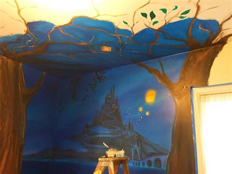 tangled bedroom i painted a disney tangled mural in my daughter s room