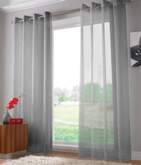 silver grey voile curtains voile panel shop for cheap curtains blinds and save online