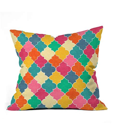 Bright Colored Pillows by Morocco Bright Throw Pillow