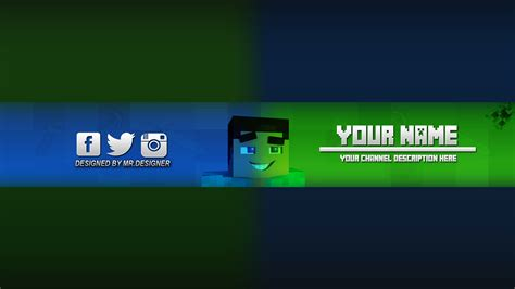 photoshop minecraft banner channel art template download