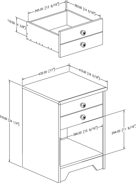 nightstand dimensions standard nightstand height