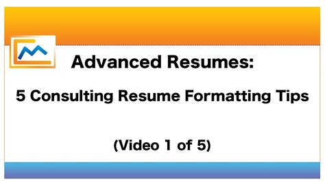 advanced resumes 5 consulting resume formatting tips