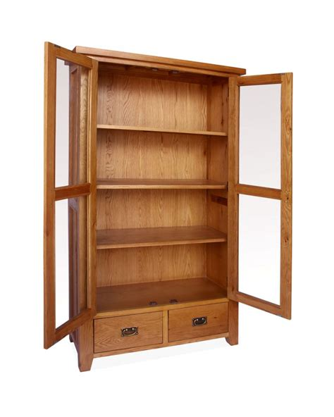 armoire cupboards canterbury oak display cabinet