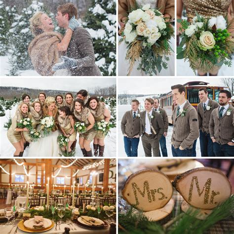 glitzy rustic glam winter wedding fiftyflowers the