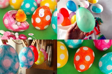 como decorar huevos de pascuas caseros original manualidad con ni 241 os huevos de pascua hechos con