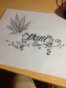 imagenes con nombre de leydi dibujo pergamino con nombre y hoja de marihuana