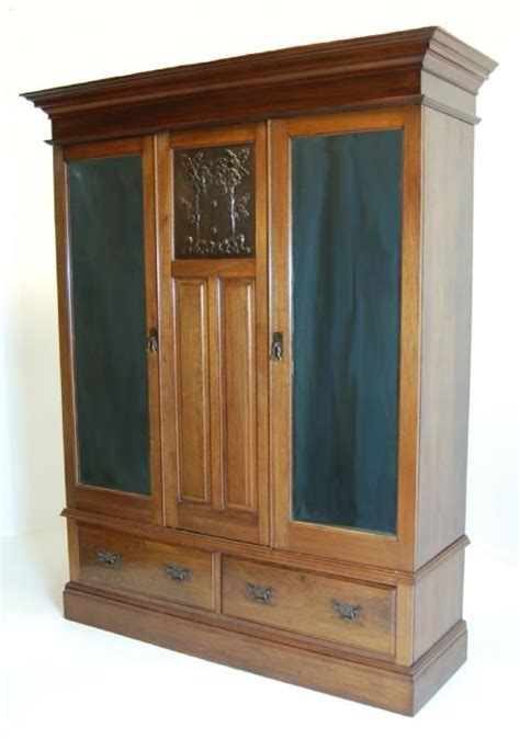 Mirrored Armoire Wardrobe by Mirrored Wardrobe Linen Press Armoire Antique