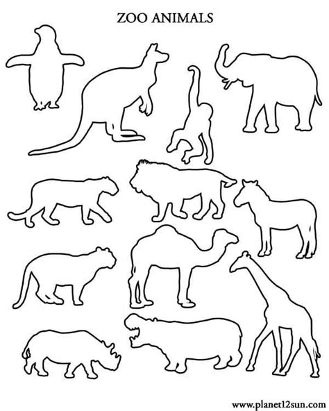 zoo animals worksheets free worksheets for kids