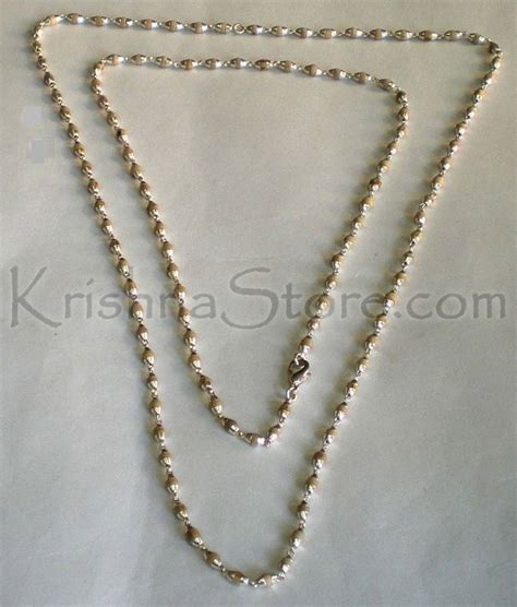 sterling silver tulsi necklace large