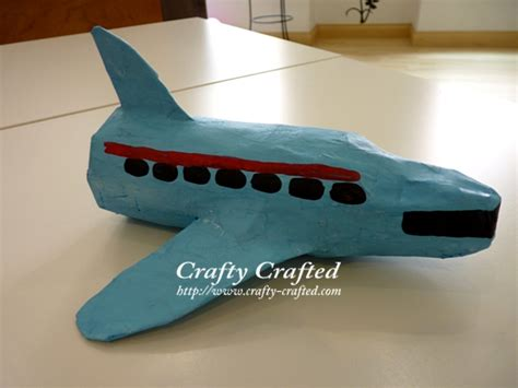 How To Make A Paper Mache Airplane - crafty crafted 187 archive crafts for children
