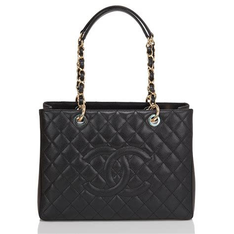 Chanel Quilted Tote Bag Price chanel grand shopper tote gst black quilted caviar bag world s best