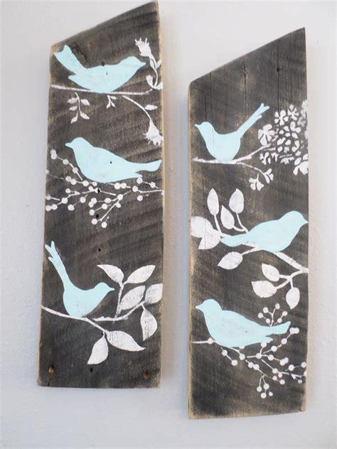 aqua bird design for side 1 reclaimed aqua country custom order blue birds rustic