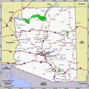 arizona road map with mileage arizona facts figures and trivia