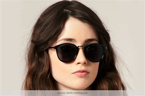hairstyles for round face with glasses retro sunglasses for round face