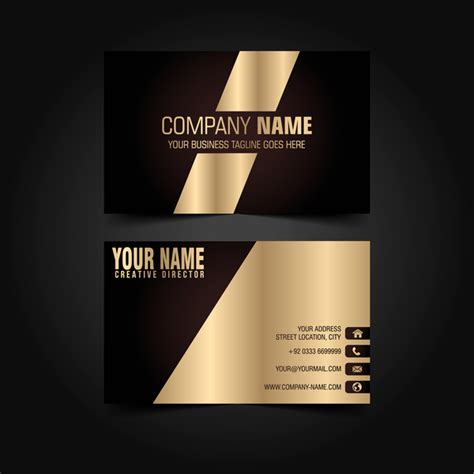 Black Business Card Template Vector by Golden With Black Luxury Business Card Template Vector 05