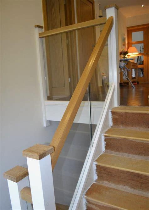Banister Newel Mr Manders Oak And Glass Balustrade Refurb Stairbox