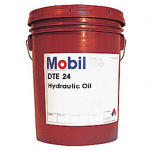 mobil dte 24 hydraulic light mobil mineral hydraulic 5 gal pail iso viscosity