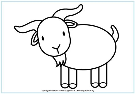 goat face template clipart best