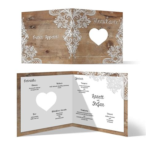 Hochzeit Rustikal by Lasergeschnittene Hochzeit 252 Karten Rustikal Mit