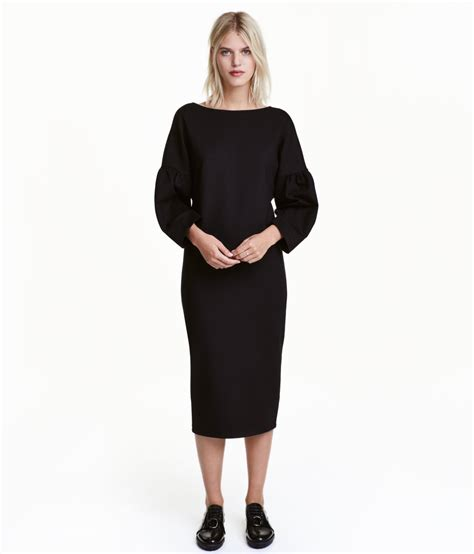 Puff Sleeve Fashion Dress M 17520 h m black dress with puff sleeves dresscodes