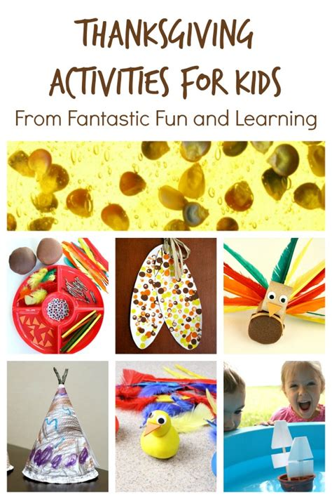 fun learning activities for 1845908929 thanksgiving activities for kids fantastic fun learning