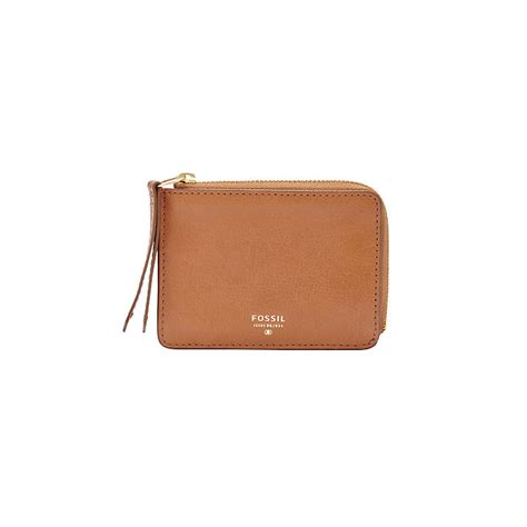 Fossil Sydney Zip Camel fossil sydney camel leather zip coin purse
