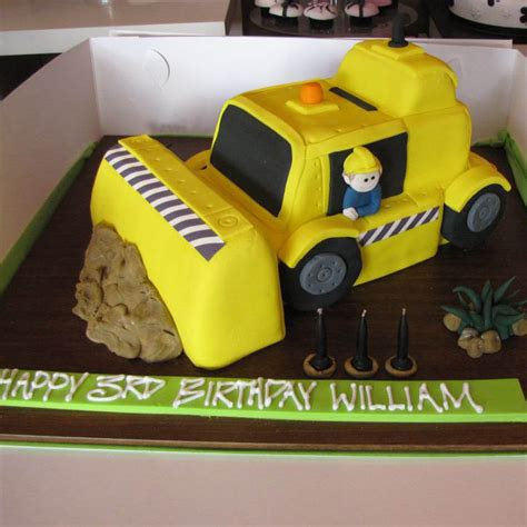 digger cake template bulldozer 3d that s my cake