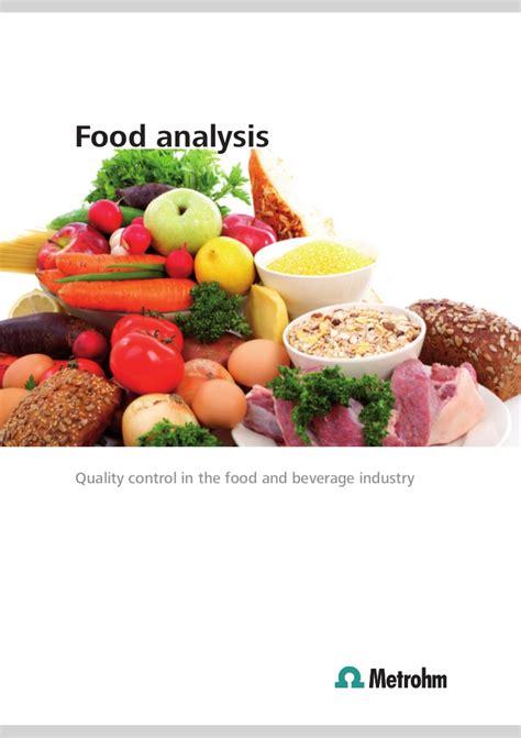 food analysis food analysis by metrohm