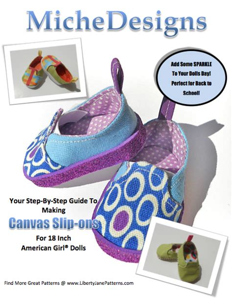 american doll shoe patterns free miche designs doll shoe pattern canvas slip ons