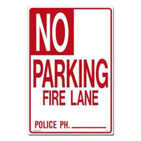 lynch sign 12 in x 18 in no parking sign