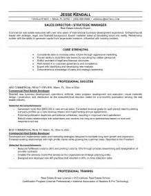 real estate developer resume sle resume sles