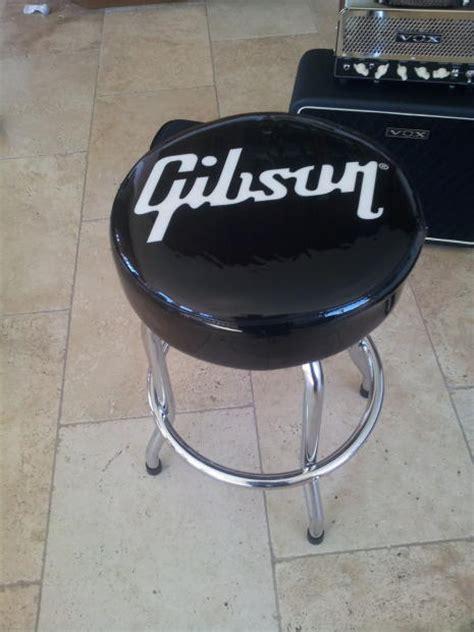 guitar bar stools gibson gibson guitar 24 quot white logo black bar stool reverb