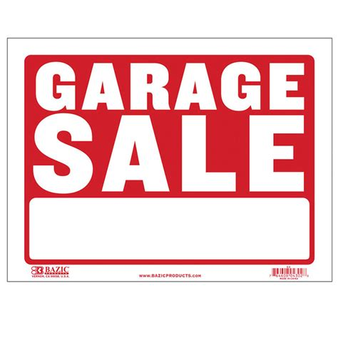 College Garage Sale by 9 Quot X 12 Quot Garage Sale Sign