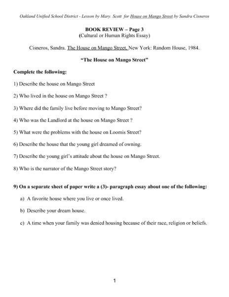 House On Mango Essay Topics by The House On Mango Essay Topics