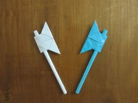 How To Make A Axe Out Of Paper - how to make a paper battle axe easy tutorials