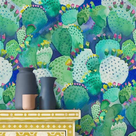 Printed Wall Murals cactus wallpaper 10m print designer wallpaper