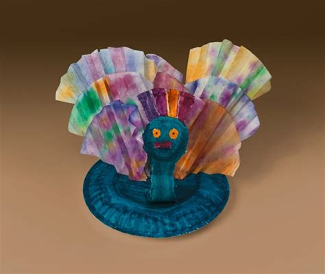 Peacock Paper Plate Craft - dazzling peacock craft crayola