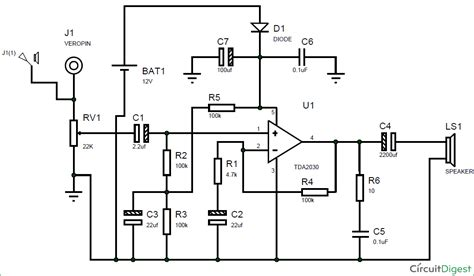 subwoofer lifier circuit diagram using ic tda2030