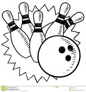 bowling sketch royalty free stock photos image 22888178