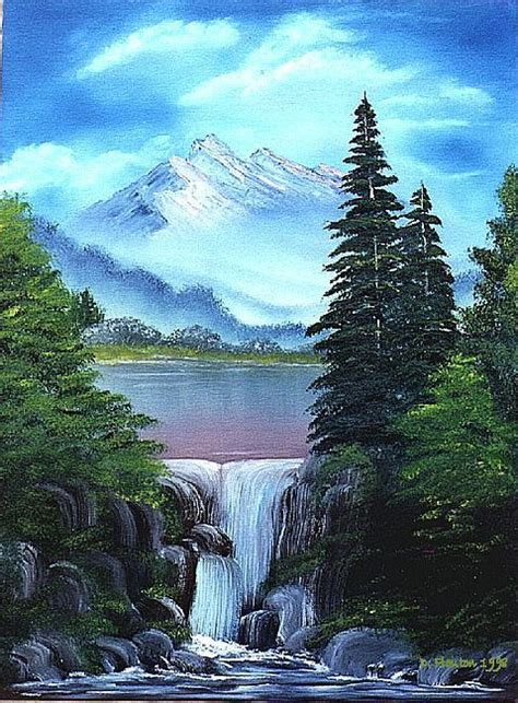 acrylic painting waterfalls waterfall paintings search waterfall paintings